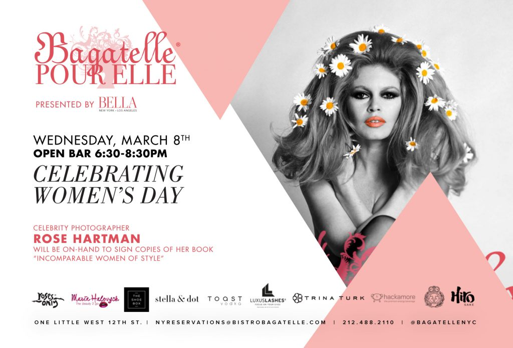 Celebrate Women's Day with Bella and Bagatelle NYC - Hip New
