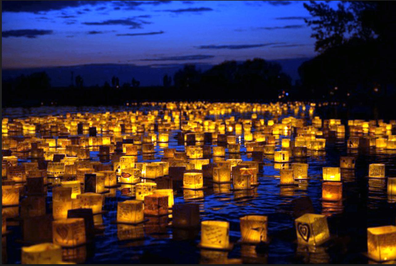 The Water Lantern Festival in Jersey City