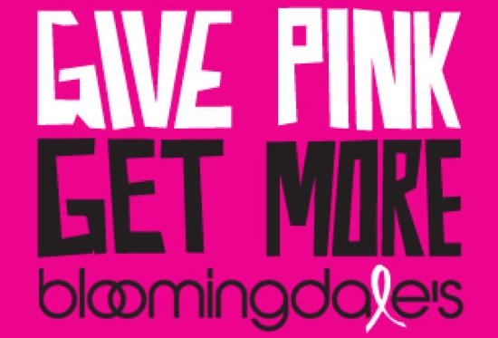 Bloomingdale's Pink Campaign