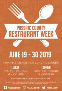 Passaic Restaurant Week @ Passaic County