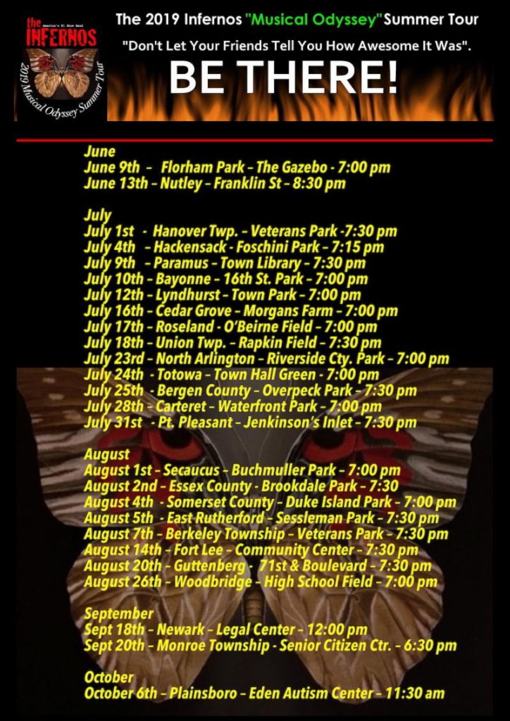 "The Infernos Band, ""Musical Odyssey"" Summer Tour @ Riverside County Park, North Arlington"