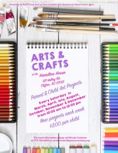 Arts & Crafts at Hamilton House (Every Saturday) @ Hamilton House Museum