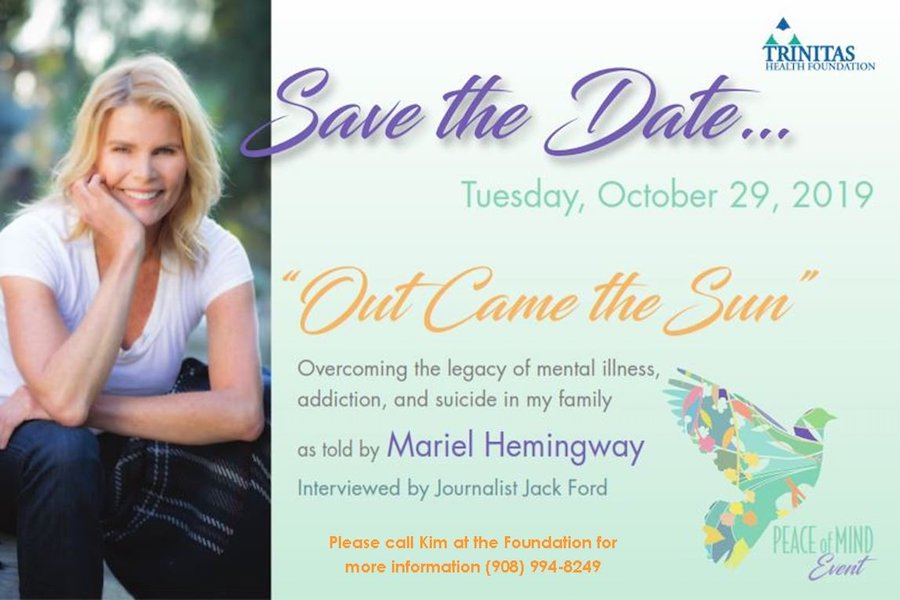 Trinitas Foundation Peace of Mind Event with Mariel Hemingway @ The Park Savoy Estate
