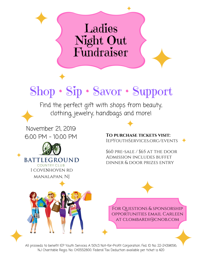 "IEP Youth Services Presents ""Ladies Night Out"" @ Battleground Country Club"