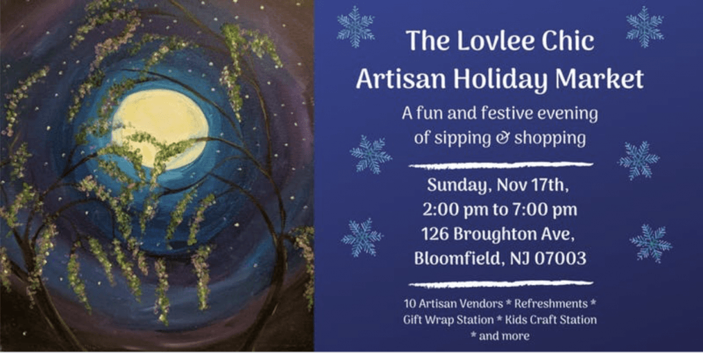 The Lovely Chic Artisan Holiday Market @ Lovlee Art Studio