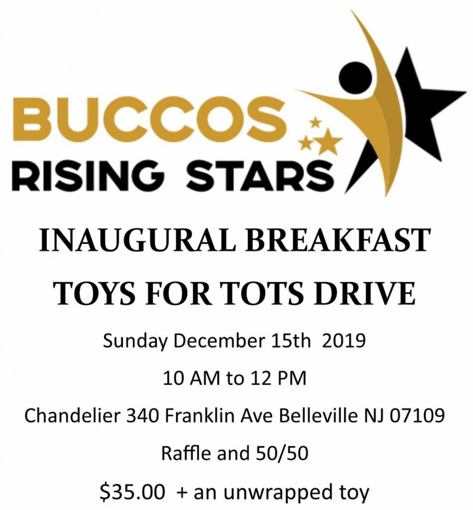 Buccos Rising Stars Inaugural Breakfast, Toys for Tots Drive @ Chandelier