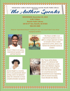 The Author Speaks @ Roselle Public Library