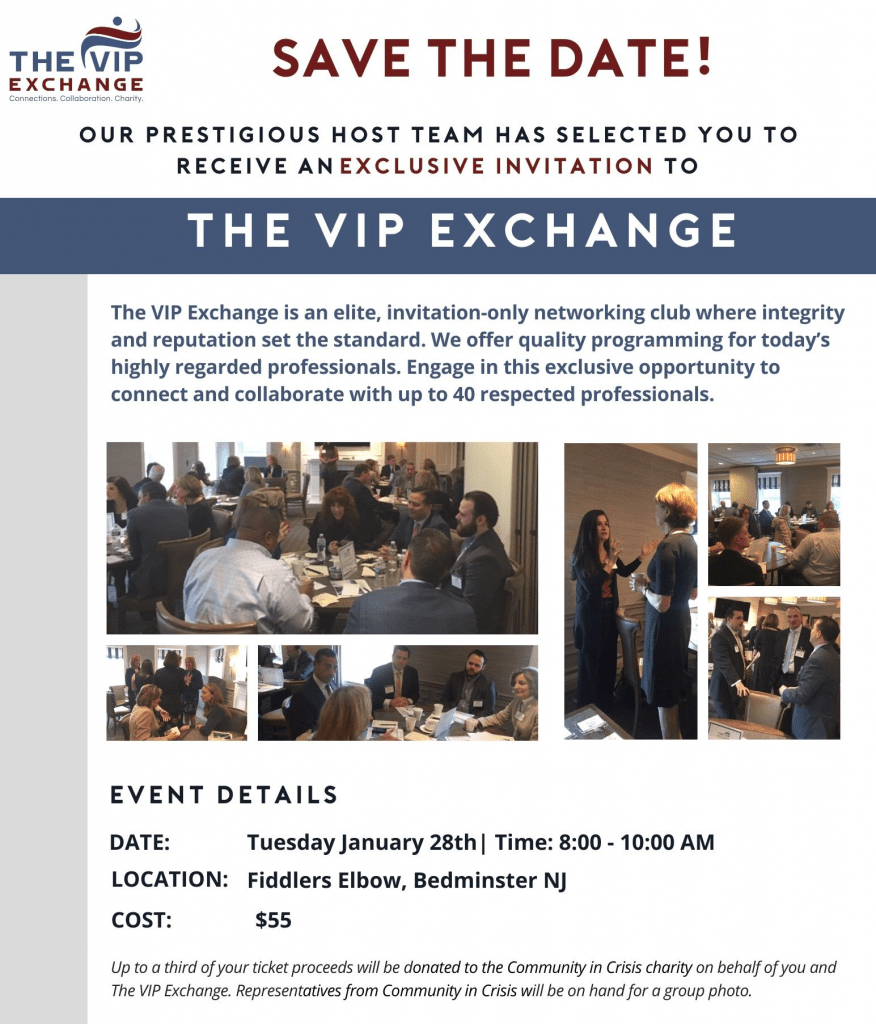 The VIP Exchange Networking Breakfast @ Fiddlers Elbow Country Club