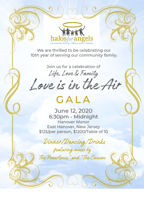 Love Is In The Air Gala, Halos for Angels @ Hanover Manor