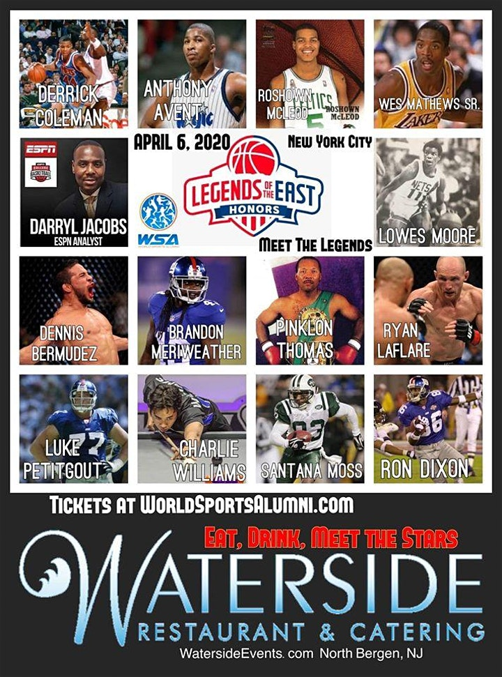 NYC Celebrity NBA Event - Legends of the East with the World Sports Alumni @ Waterside Restaurant and Catering